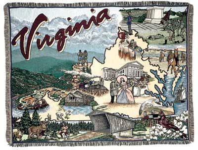 Tapestry - State Of Virginia Throw