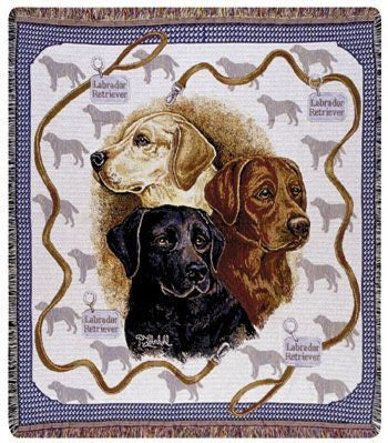 Tapestry - Labradors Throw