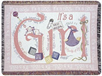 Gift - It'S A Girl Throw