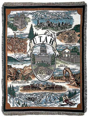 Tapestry - State Of Utah Throw
