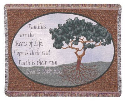 Gift - Families Are The Roots Throw