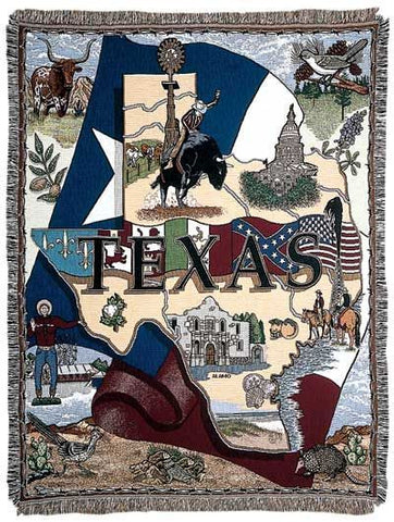 Tapestry - State Of Texas Throw