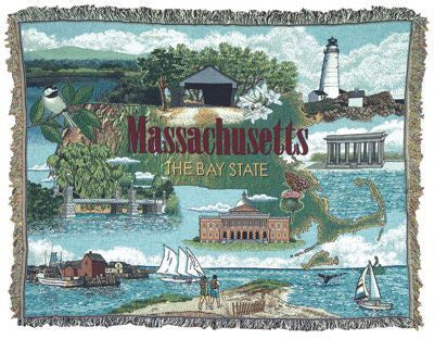 Tapestry - State Of Massachusetts Throw