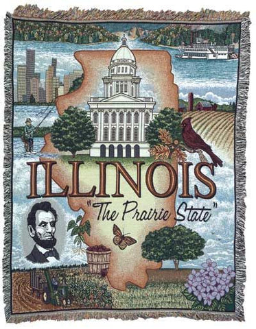 Tapestry - State Of Illinois Throw