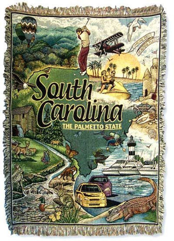 Tapestry - State Of South Carolina Throw