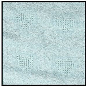 Mini Honeycomb Heart - Solid Mint Throw