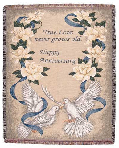 Tapestry - Happy Anniversary Throw