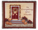 Tapestry - In Everything Give Thanks Throw