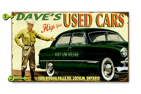 Used Car Metal 23x39
