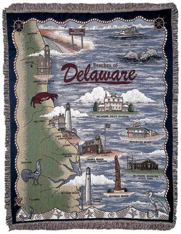 Tapestry - Beaches Of Delaware Throw