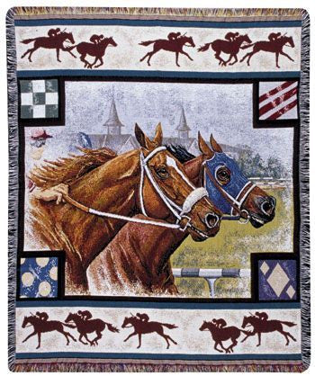 Tapestry - Day At The Races Throw