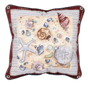 Pillow - Nautical Sampler/Shell Pillow