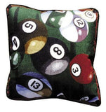 "Pillow - Let'S Play Pool 18"" Pillow"