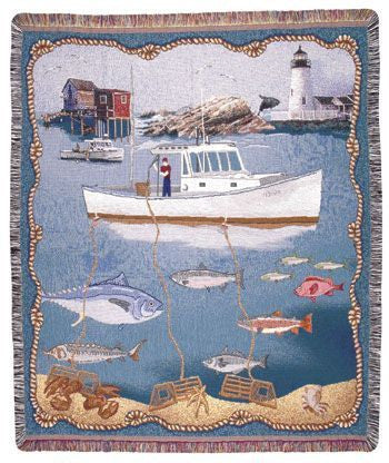 Tapestry - New England Sealife Throw