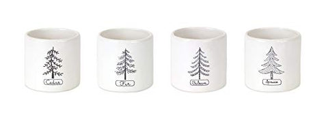 Tree Crock (Set of 4) 3.75
