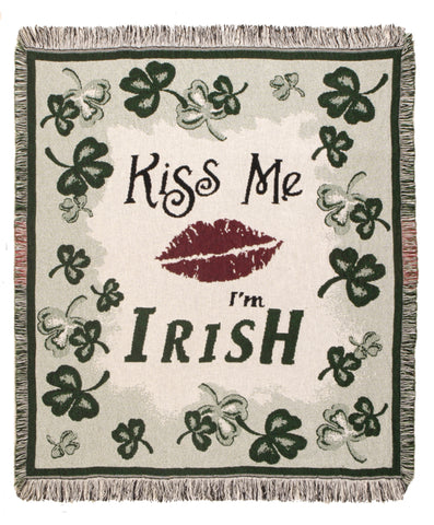 Kiss Me Im Irish Throw