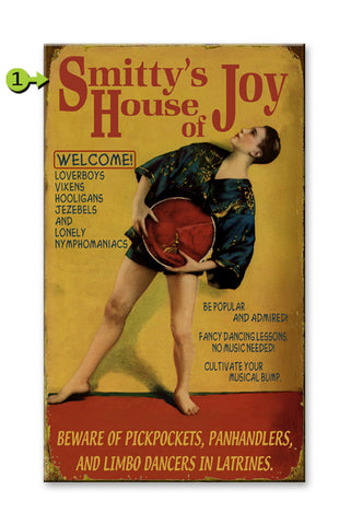 House of Joy Metal 18x30