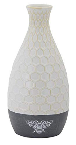 Melrose Ceramic Vase with Bee, 9.25-inch High
