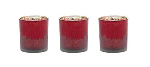 Melrose PVC Box Glass Votive Holder Set of 3, 3 Inches Height