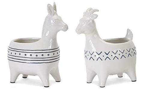 Melrose Intl. Goat/Donkey Planter (Set of 2) 4