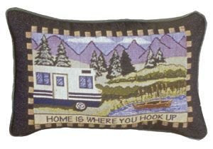 Simply Home is Where You Hook Up Pillow