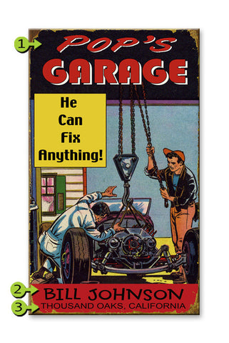 He Can Fix Anything Metal 23x39