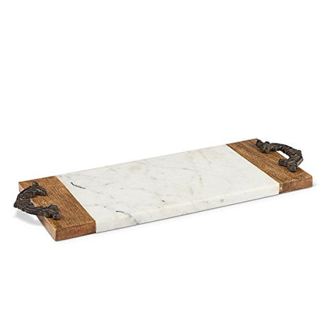 Antiquity Marble Wood Cutting and Serving Board Size: 20.75