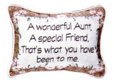 A Wonderful Aunt Tapestry Toss Pillow USA Made SKU: P80-AUNT