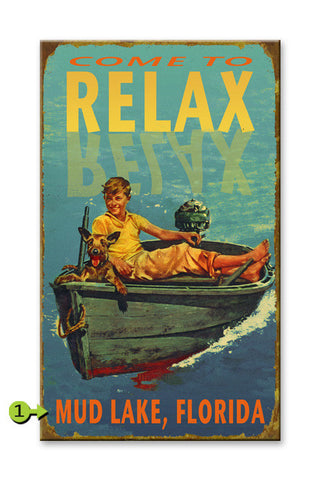 Come to Relax Wood 23x39