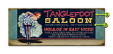Saloon Girl Wood 17x44
