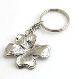 Set Of 6  Nickel Dogwood Keychain