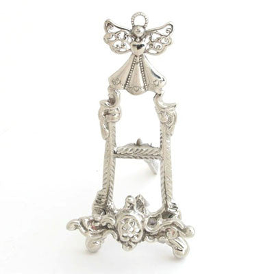 Set Of 4  Nickel Small Angel Easel