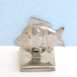 Set Of 4  Nickel Fish Place Card