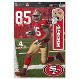 "WinCraft NFL San Francisco 49ers WCR29261014 Multi-Use Decal, 11"" x 17"""