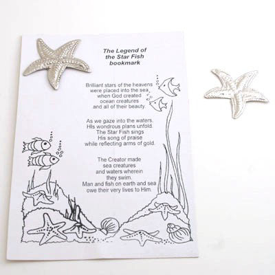 Set Of 12.  Card With Starfish