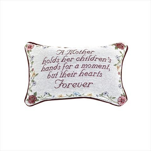 Manual Woodworker Pillow-A Mother Holds Her Children's. (12.5 x 8.5)