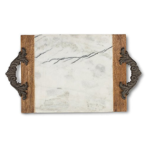 Antiquity Marble Wood Tray