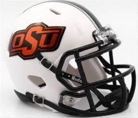 Riddell NCAA Oklahoma State Cowboys Helmet Mini SpeedHelmet Replica Mini Speed Style 2016 White, Team Colors, One Size