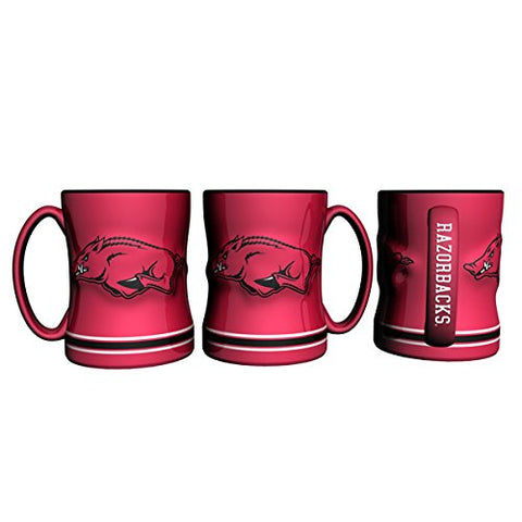 Arkansas Razorbacks Coffee Mug - 14oz Sculpted Relief