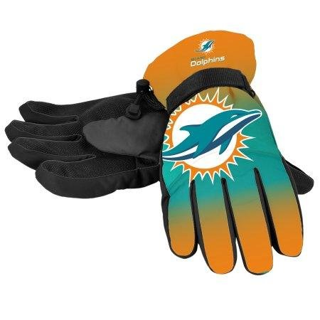 Forever Collectibles NFL Miami Dolphins Insulated Gradient Big Logo Gloves, Team Colors, Small/Medium
