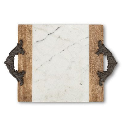 Antiquity Marble Wood Cutting and Serving Board Size: 14