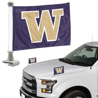 ProMark NCAA Washington Huskies Flag Set 2-Piece Ambassador Style, Team Color, One Size
