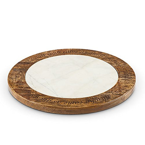 Antiquity Marble Wood Lazy Susan