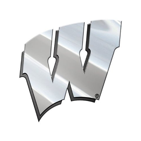 NCAA Wisconsin Metal Emblem, One Size, One Color