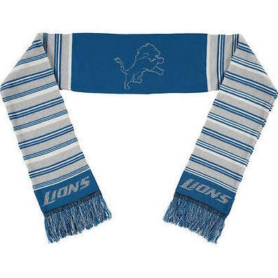 Forever Collectibles NFL Detroit Lions ScarfGlitter Stripe Style, Team Colors, One Size