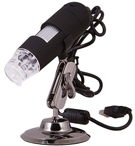 Levenhuk DTX 30 Portable Digital USB Microscope (20-230x), Compatible with Windows and Mac OS