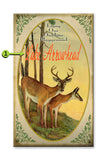 Enjoy the Outdoors (Whitetail Deer) Wood 28x48
