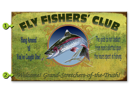 Fly Fisherman's Club Metal 23x39