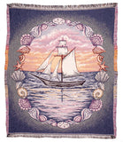 Mid - Sunset Sails Throw