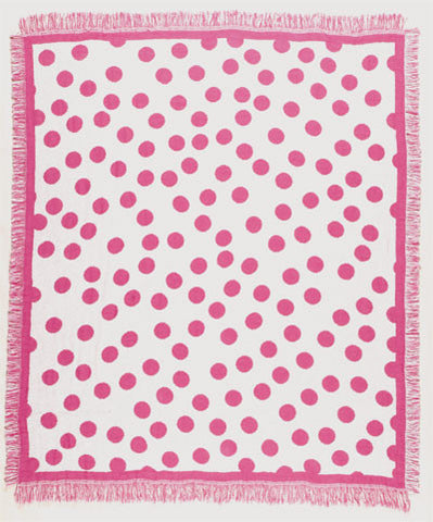 Mid - Huntington-Ferre Fushia Throw